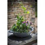 Bibury Table Top Galvanised Planter by Garden Trading