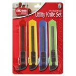 Set of 4 Utility Safety Knife Set by Kingfisher