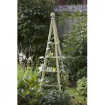 Woodland Garden Obelisk in Sage (1.9m) by Smart Garden