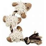 Squeaky Sheep Rope Chew Toy for Dogs by Gardman