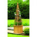 Wooden Obelisk Garden Planters (Set of 2) by Gardman