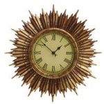 Traditional Sunburst Wall Clock by Gardman