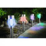 Colour Changing Marker Lights 4 Pack (Solar) by Gardman