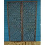 Set of 2 Willow Trellis Framed Panel (180cm x 60cm) by Gardman