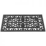 Door Span Patio Victorian Design Rubber Doormat by Gardman