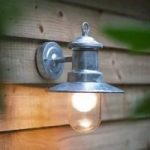 Galvanised St Ives Ships Light (Mains) by Garden Trading