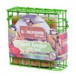 Hanging Suet Cake Bird Feeder with Suet Cake Feed by Kingfisher