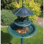 Bird Bath with Sheltered Feeding Table by Kingfisher