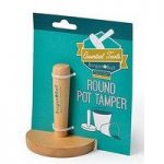 Wooden Pot Tamper (Round) by Burgon & Ball