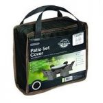 6 Seater Round Patio Set Cover (Premium) in Black by Gardman