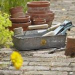 Galvanised Tool Storage Trug by Sophie Conran by Burgon and Ball