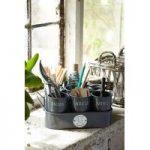 Sophie Conran Gardeners Gubbins Pots & Tray in Grey by Burgon and Ball