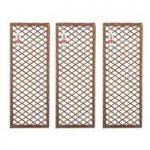 Set of 3 Willow Trellis Framed Panel (120cm x 45cm) by Gardman