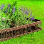 Set of 4 Willow Hurdles Lawn Edging (120cm x 25cm) by Gardman