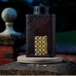 Ottoman Battery Operated Candle Lantern by Smart Solar