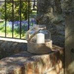 Summer Days Glass Lantern Candle Holder by Smart Solar