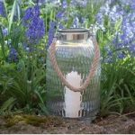 Honeycomb Glass Lantern Candle Holder by Smart Solar
