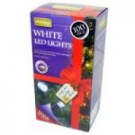 100 LED White String Lights (Mains) by Kingfisher