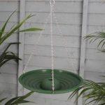 Plastic Bird Bath in Green by Meripac