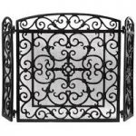 Black Cast Iron Fireplace Screen by Fallen Fruits
