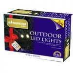 200 LED Multi-Action White String Lights (Solar) by Kingfisher