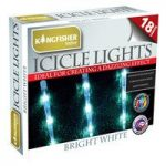 18 LED White Multi Action Icicle String Lights (Mains) by Kingfisher