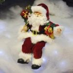 Sitting Father Christmas / Santa Claus Figure Decoration Ornament – Red