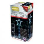 Kingfisher 4 Star Shape LED Christmas Garden Stake Lights