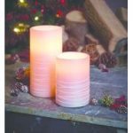 Battery Operated Sugar Spun LED Candle 15cm by Gardman