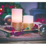 Battery Operated Gold Braided LED Candle – 10cm by Gardman