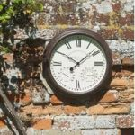 Bickerton Wall Clock Thermometer & Humidity Gauge by Smart Garden