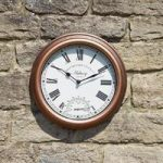 Astbury Wall Clock & Thermometer by Smart Garden