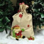 Hessian Christmas Sack – Santa or Snowman design