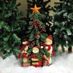 Decorated Standing Christmas Tree Decoration With Figurines – 81cm Tall