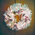 Pre-lit LED 66cm Snowy White Christmas Wreath by Gardman