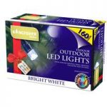 160 LED Bright White Multi-Action String Lights (Mains) by Kingfisher