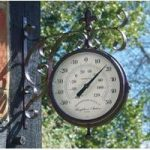 Marylebone Station Double Sided Clock & Thermometer by Smart Garden