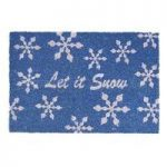 Christmas Let it Snow Coir Doormat By Gardman