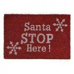 Christmas Santa Stop Here Coir Doormat by Gardman