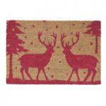 Christmas Festive Stag Coir Doormat by Gardman
