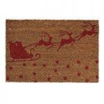 Christmas Santa Sleigh Coir Doormat by Gardman