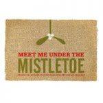 Christmas Meet Me Under the Mistletoe Coir Doormat By Gardman