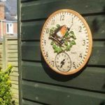 Robin Wall Clock & Thermometer by Smart Garden
