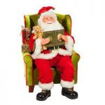 Traditional Santa Claus in Arm Chair Decoration Ornament – 80cm
