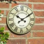 Westminster Classic Wall Clock In Cream by Smart Garden