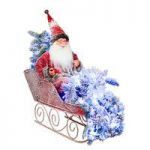 Snowy Santa Claus in his Sleigh Decoration – 80cm with 100 LEDs