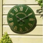 Westminster Classic Wall Clock In Green by Smart Garden