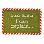 Christmas Dear Santa I Can Explain Coir Doormat by Gardman