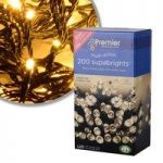 200 LED Warm White Supabright String Lights (Mains) by Premier