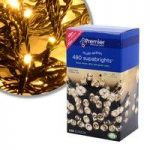 480 LED Warm White Supabright String Lights (Mains) by Premier